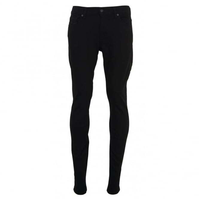 7 For All Mankind Ronnie Rinse Black Jeans
