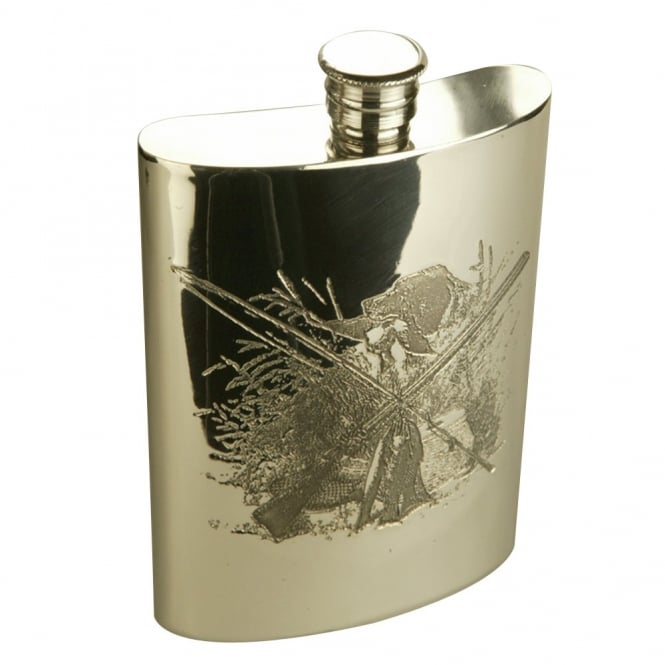 Charles Buyers 6oz Shooting Scene Hip Flask