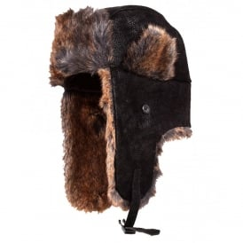 Dents Faux Sheepskin Trapper Hat