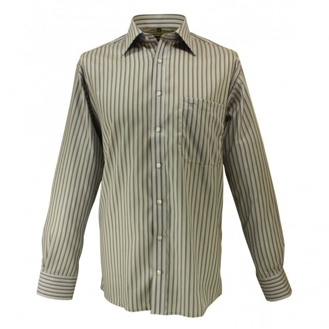 Eterna Blackline Striped Shirt