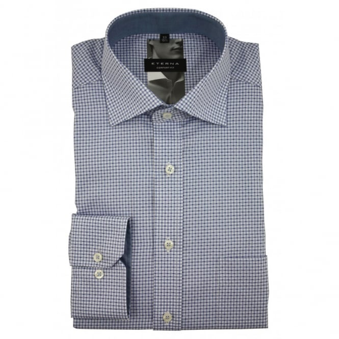 Eterna Patterned Shirt | Comfort Fit