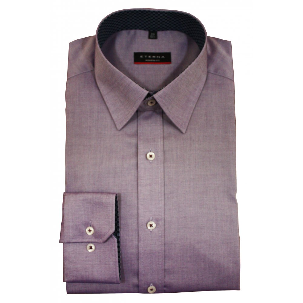eterna purple shirt modern fit gibbs menswear. Black Bedroom Furniture Sets. Home Design Ideas
