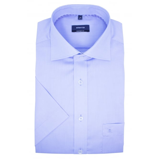 Eterna Solid Colour Short Sleeve Shirt | Comfort Fit