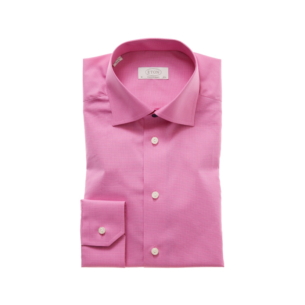 eton micro check dress shirt gibbs menswear