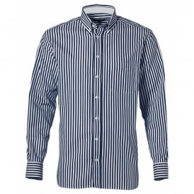 2 Ply 90's Mixer Banker Striped Shirt