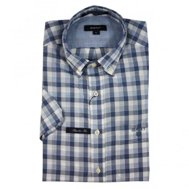 Gant L. Malibu Heather Poplin Check SS BD Shirt