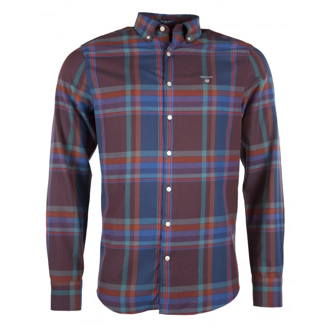 Gant O1. Tech Prep Wool Big Check Reg BD Shirt
