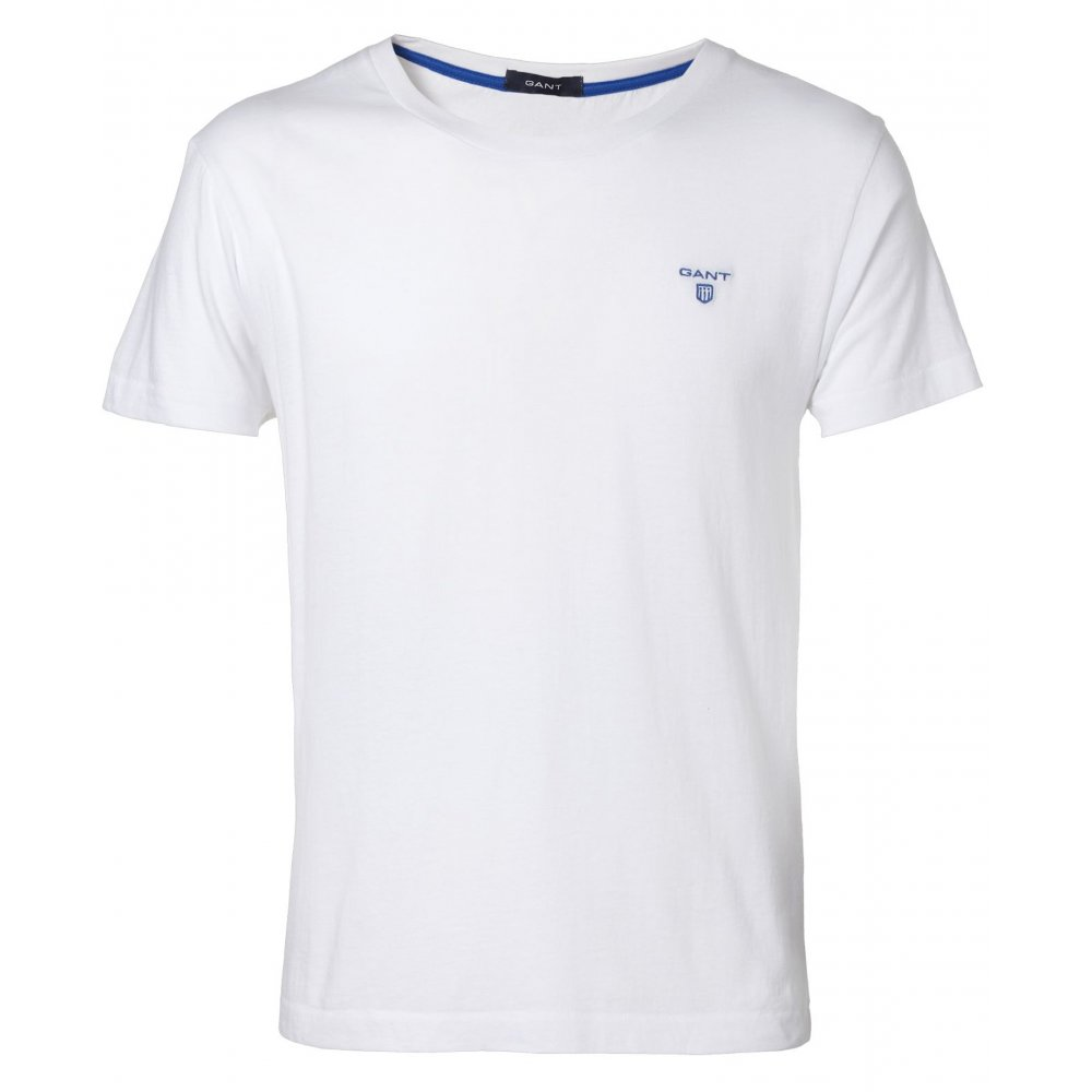 gant solid contrast logo t shirt t shirts from gibbs