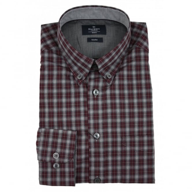Hackett Tonal Melange Check Shirt