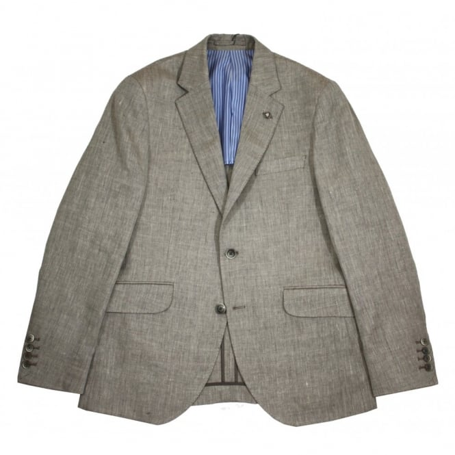 Hackett Wool Linen Herringbone Jacket