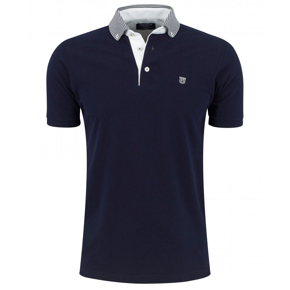 Hackett yarn dyed button down collar polo shirt polo for Order company polo shirts