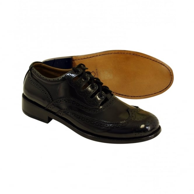 Jamie Alexander Black Goodyear Welted Sole Ghille Brogues