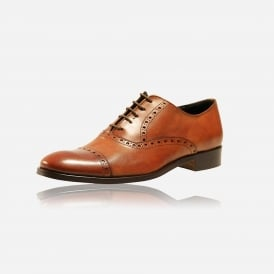 Cow Leather Tan Brogue