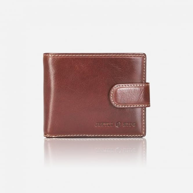 Jekyll & Hide Oxford Coffee Button Clip Close Wallet
