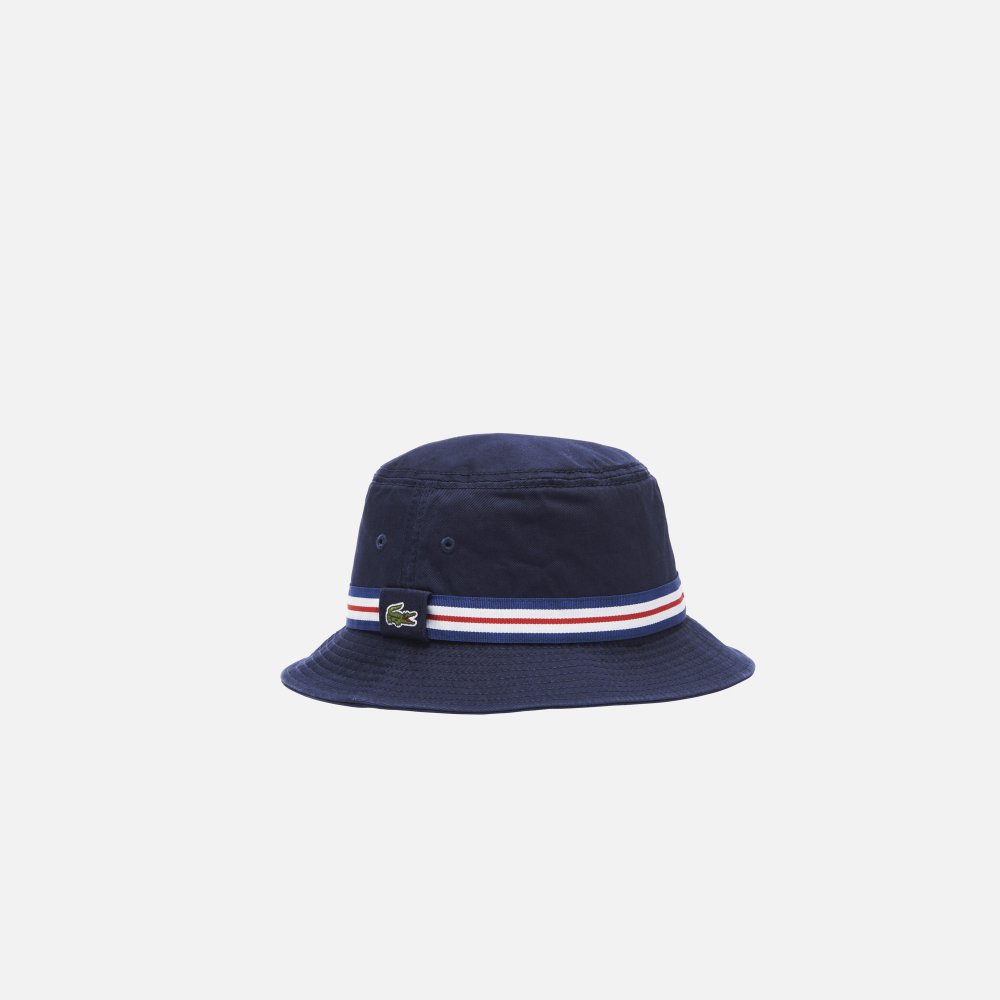 79d786fa50 Lacoste Bucket hat with piping in gabardine - New Arrivals from ...