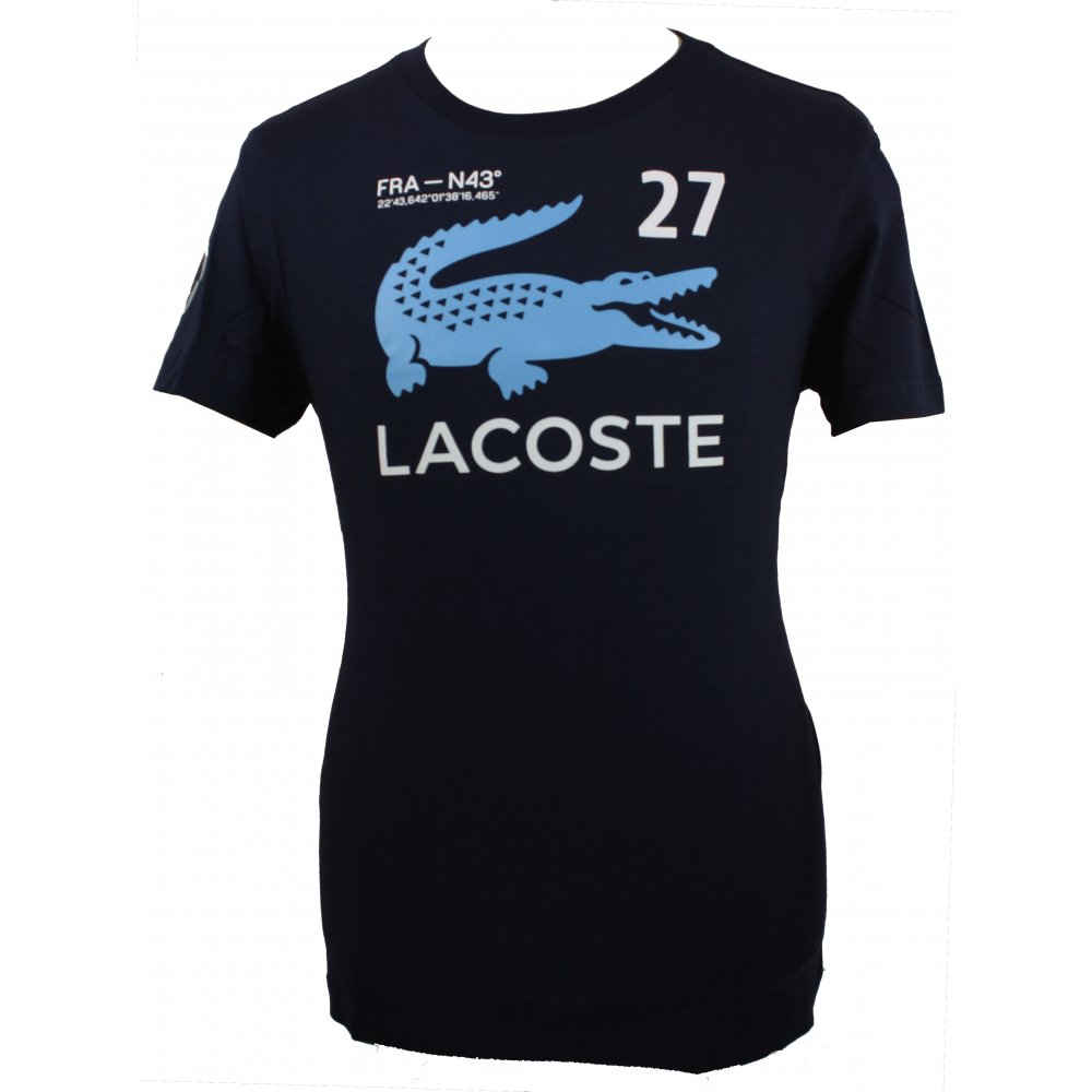 Lacoste Crew Neck Nautical Printed T Shirt Gibbs Menswear