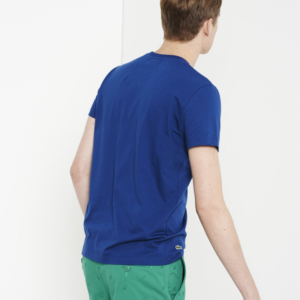 Lacoste Crew Neck Printed T Shirt Lacoste From Gibbs