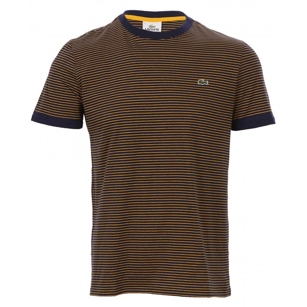 Lacoste Crew Neck Striped T Shirt Lacoste From Gibbs