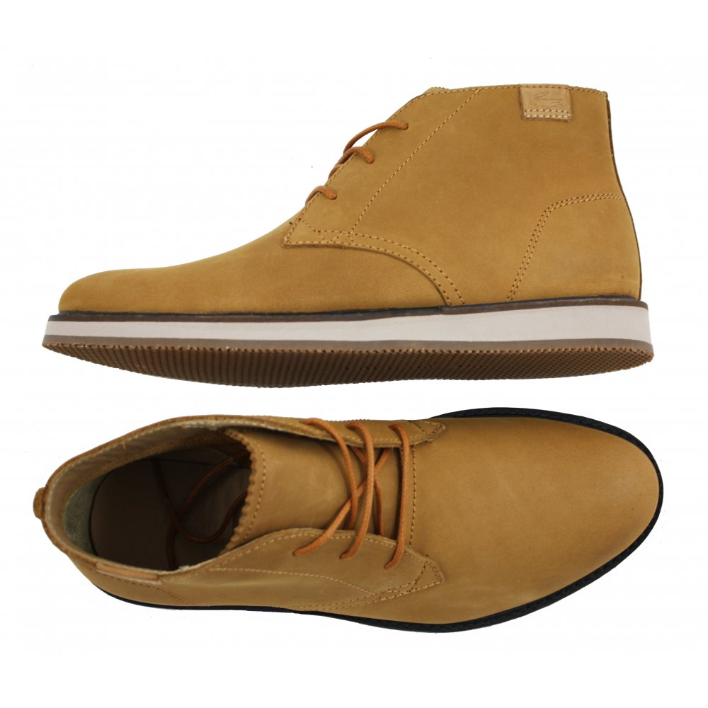 lacoste chukka boots brown - 60% OFF