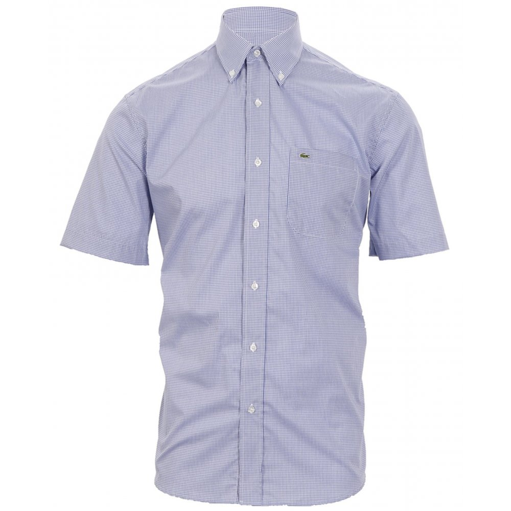 Lacoste mini checked short sleeve shirt shirts from for Short sleeve lacoste shirt
