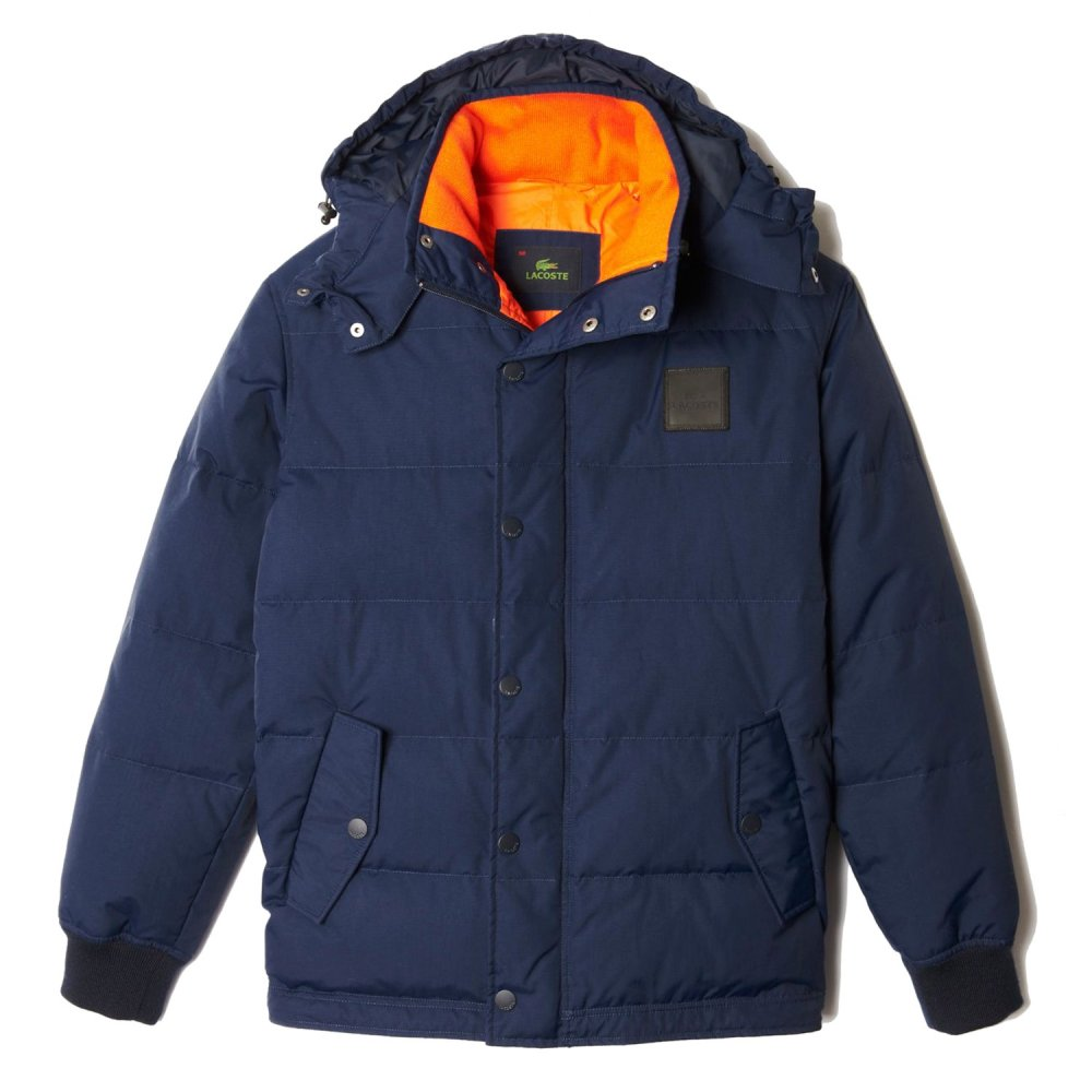 lacoste quilted hooded jacket lacoste from gibbs menswear uk. Black Bedroom Furniture Sets. Home Design Ideas