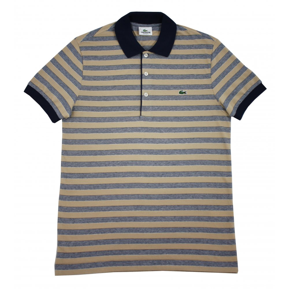 Lacoste striped polo shirt gibbs menswear for Lacoste poloshirt weiay