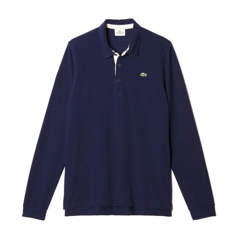 4f1e8bba Lacoste Two-Tone Rugby Polo In Piqué - Rugby Shirts from Gibbs ...