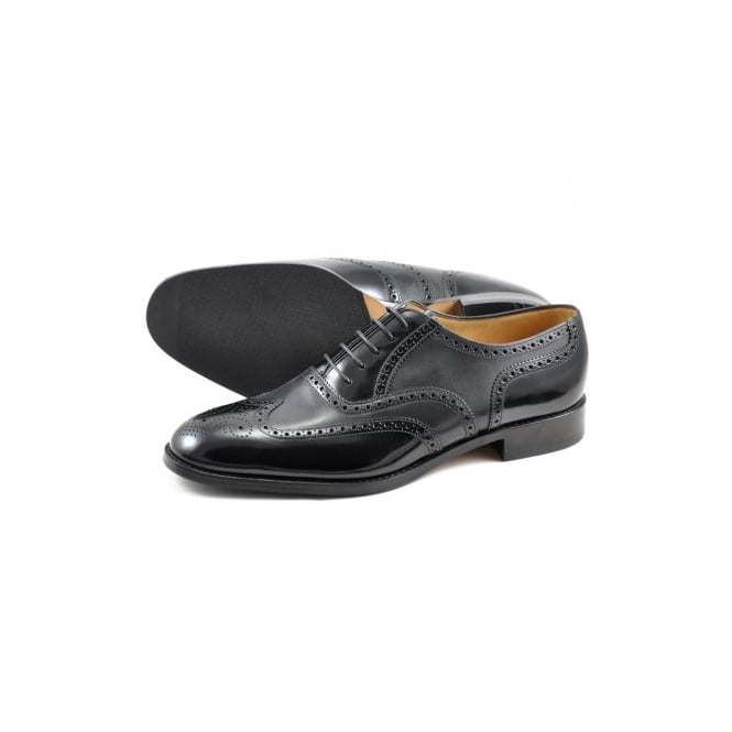 Loake Lowick Black Shoe