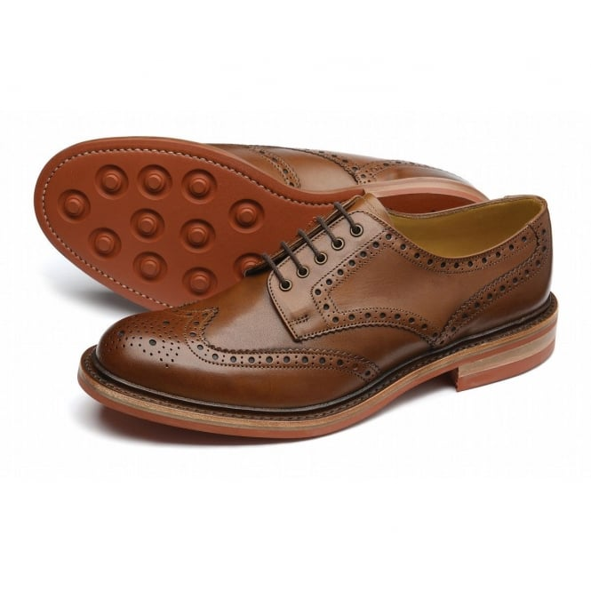 Loake Worton Brown Brogue Shoe