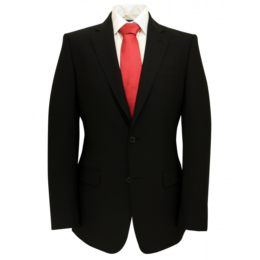 Magee Plain Black Suit Jacket - Magee From Gibbs Menswear UK