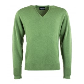 Crathes V-Neck Cashmere Jumper