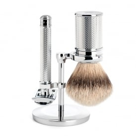 Traditional Chrome Shaving Set